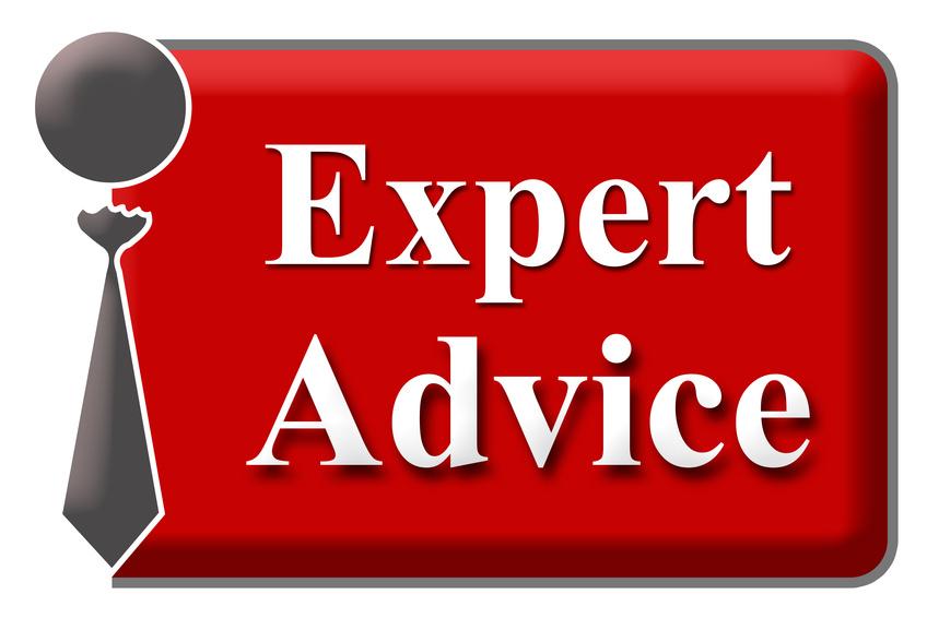 Expert Advice Red Grey Block