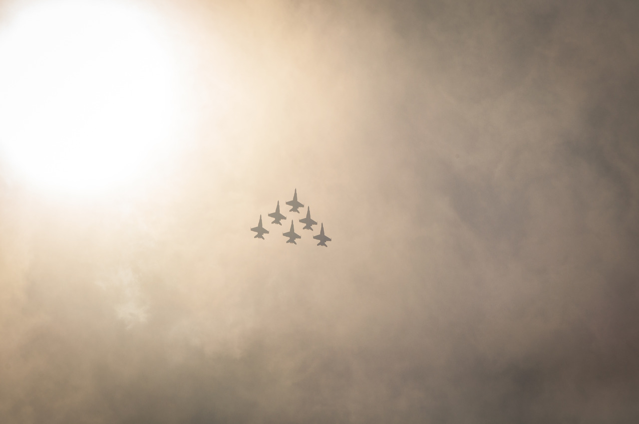 F18s Flying High Res Image